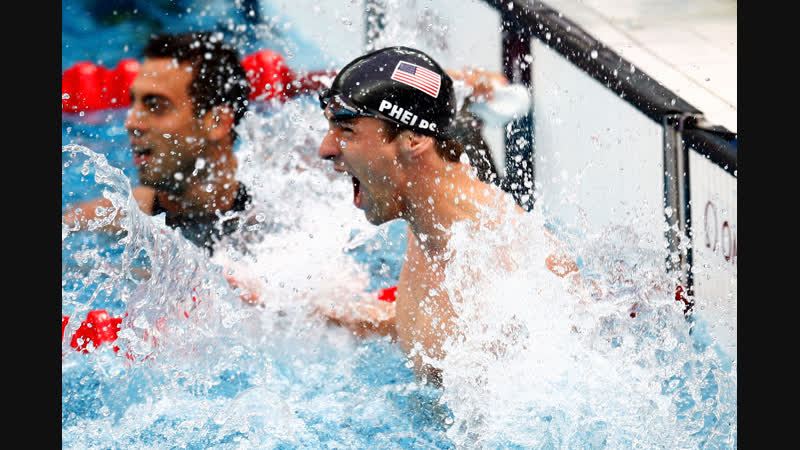 Michael Phelps 7th Gold Medal 2008 Beijing 100 Butterfly