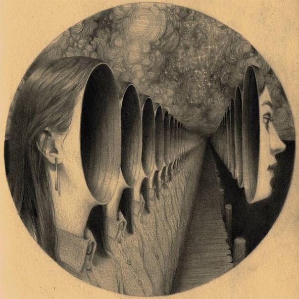 Мир тёмного сюрреализма, или рисунки о том, что скрыто глубоко внутри большинства Лондонский художник Майлс Джонстон (Miles Johnston) создаёт женские портреты в сюрреалистической манере,