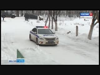 В Болохово Дед Мороз приехал на утренник на полицейской машине