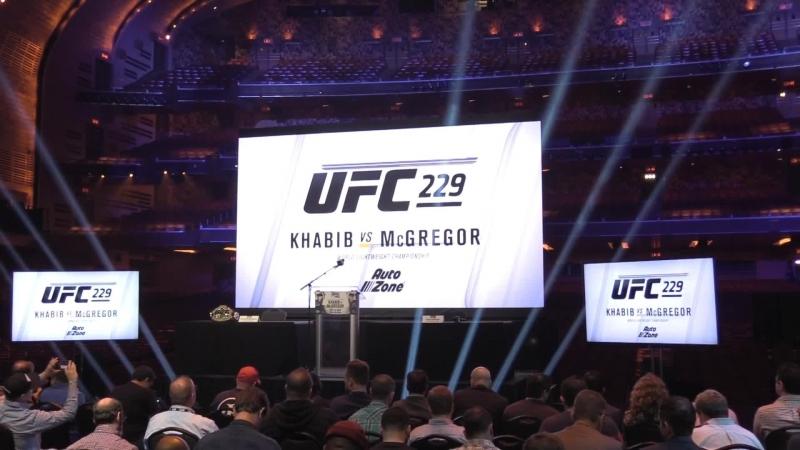 Конор Макгрегор - Хабиб Нурмагомедов: прямая онлайн-трансляция пресс-конференции перед боем