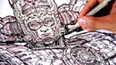 The most DETAILED DRAWING EVER I think of GALACTUS