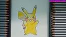 Cách vẽ pikachu đẹp dễ thương bằng màu chì Marco