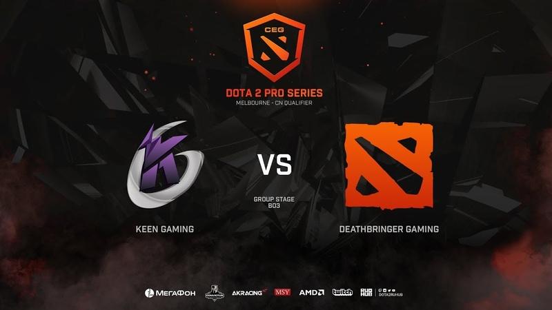 Keen Gaming vs DeathBringer Gaming, CEG Dota 2 Pro Series CN Qualifier, bo3, game 2 [Mila]