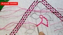 Latest Nakshi kantha stitches tutorial 99 part 2 নকশী কাঁথা সেলাই नक्षी कंध सिलाई