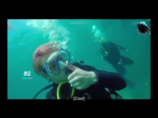 JM jungkookah come here, stick with me - and the whole time jikook was together in the water️