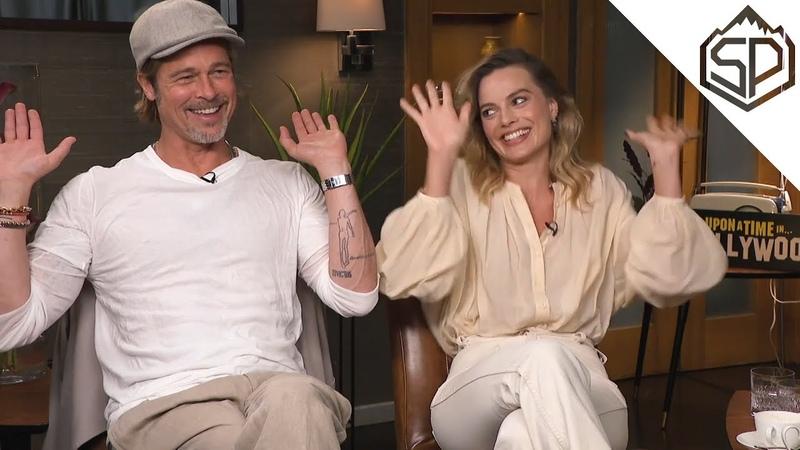 Что общего у Марго Робби и Брэда Питта Интервью к фильму Однажды в Голливуде