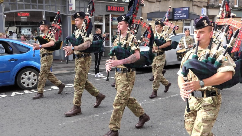 The Black Watch 3 SCOTS The Royal Regiment of Scotland Homecoming Parade 2018 Perth 4K UHD