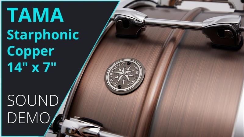 Tama Starphonic Copper 14x7 Snare Sound Demo