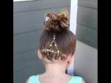 Прическа для маленьких принцесс