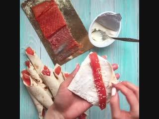 0% жирности - закуска  с красной рыбкой
