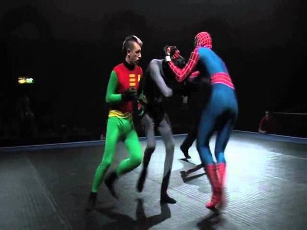 Бетман и Робин против Спайди