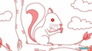 How to Draw a Squirrel - Step By Step Drawing for Kids | Educational Videos by Mocomi