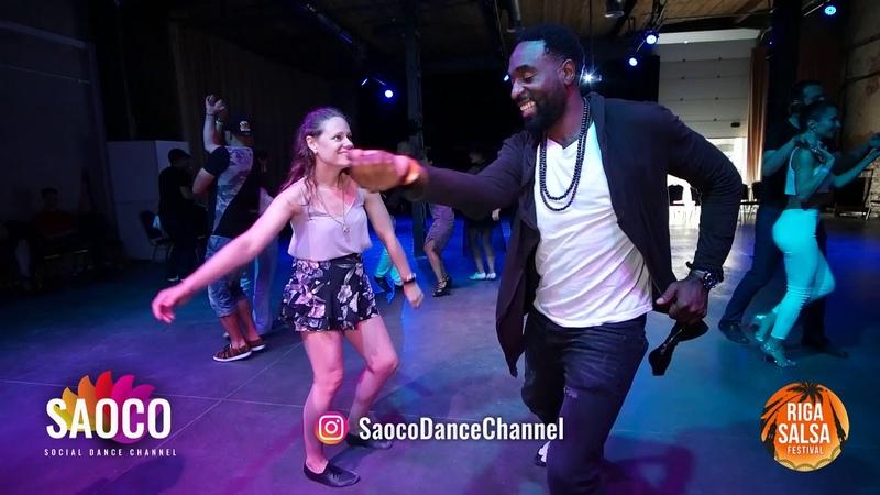 Steeve Oagi and Annabelle Judd Salsa Dancing at Riga Salsa Festival 2018, Saturday 11.08.2018
