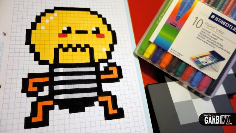 Handmade Pixel Art - How To Draw a Kawaii Bulb by Garbi KW pixelart