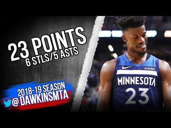 Jimmy Butler Full Highlights 2018.10.24 at Raptors - 23 Pts, 5 Ast, 6 Stls! | FreeDawkins