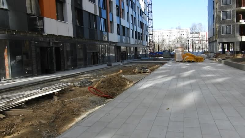 Etalonsadforum.com: ЖК Летний сад - готовность корпуса 2а, со двора - уже ведут благоустройство