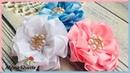 Канзаши/Нежные цветы из репсовой ленты 25 мм/Alena Shavtr