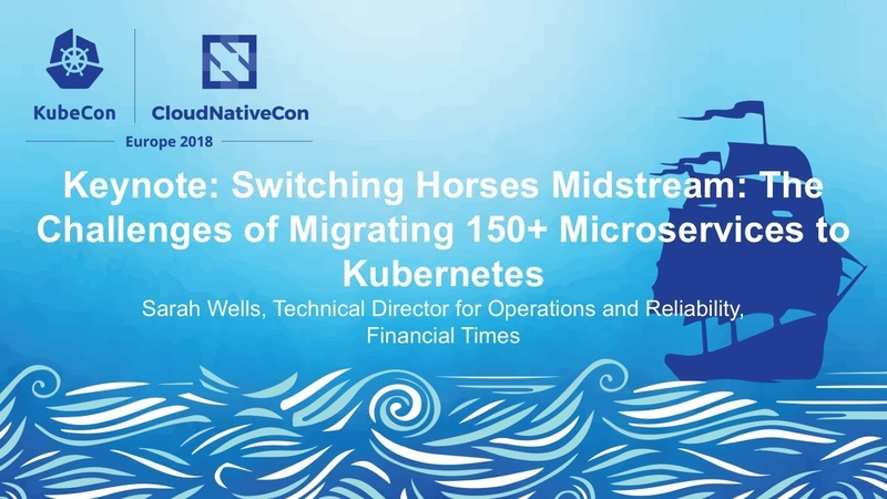 Keynote The Challenges of Migrating 150 Microservices to Kubernetes, Sarah Wells