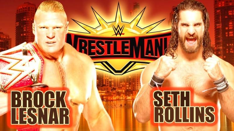WWE 2K19 WRESTLEMANIA 35 Brock Lesnar vs Seth Rollins WWE UNIVERSAL CHAMPIONSHIP Match👏😍👍