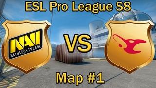 НАВИ играют НЮК против МАУЗОВ | NaVi vs Mousesports | Map #1 de_nuke bo3 [RU] | EPL S8