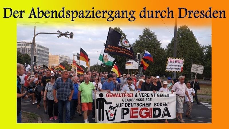 Der irre Kreisverkehr der Firma Pegida e. V. Livedoku aus Dresden