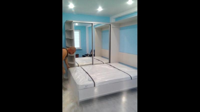 Кровать трансформер со шкафом купе