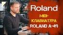Обзор MIDI-клавиатуры ROLAND A-49