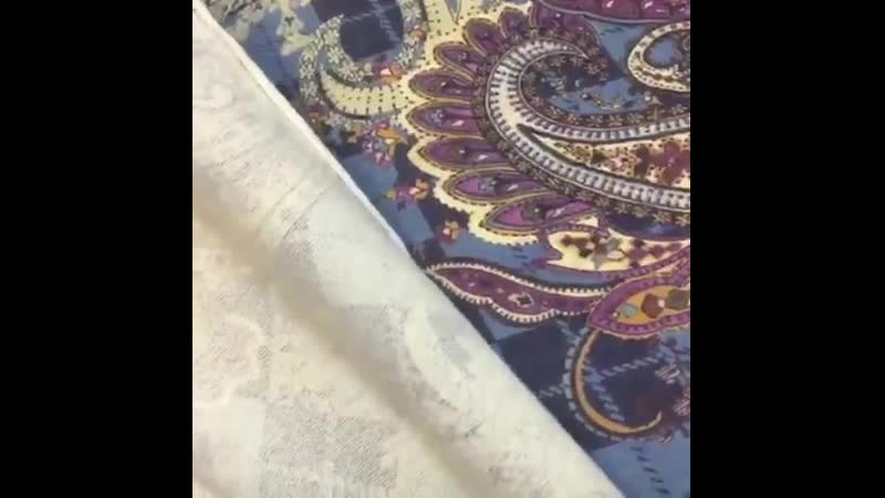 💥Ткань в наличии 💥 Итальянский ангоровый трикотаж в синем цвете с крупным огуречным рисунком ♥️Поставь лайк😉👍 ⭐️Ширина 150с