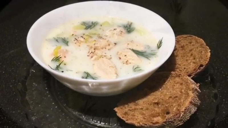 Финский Лохикейто (Сливочный суп с лососем или Уха по-фински)