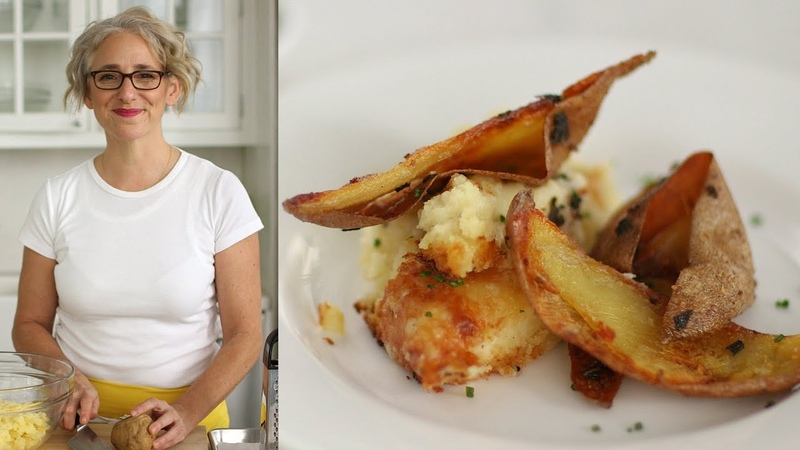 Twice-Baked Potato-and-Raclette Casserole- Everyday Food with Sarah Carey