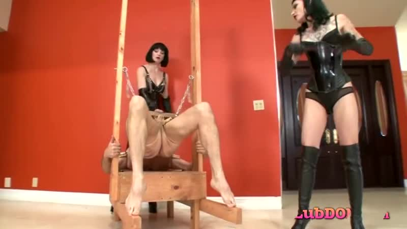 2 cruel sexy dominas whipping cbt