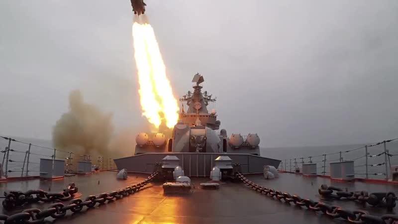 Стрельбы крылатыми ракетами в рамках зачетного учения группировки сил ТОФ ВМФ