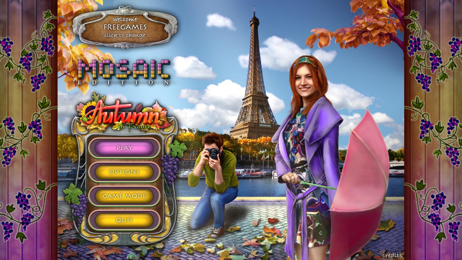 Четыре сезона разных стран мира: Осень во Франции. Мозаичное издание | Autumn in France Mosaic Edition (En)