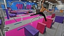 СУПЕР ПОЛОСА ПРЕПЯТСТВИЙ В БАТУТНОМ ПАРКЕ ПАРКУР SUPER TRAMPOLINE PARK OBSTACLE COURSE