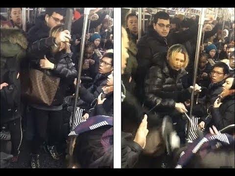 ✊ Россиянка- адвокат набросилась с пинками на людей в Нью-Йоркском метро 😲