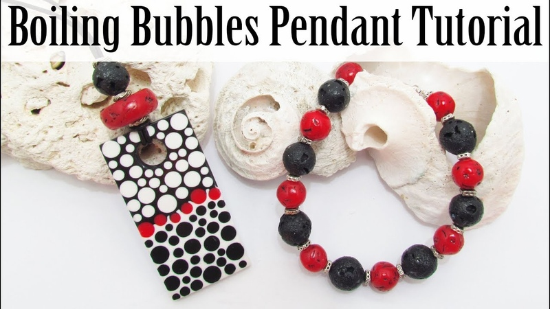 GIVEAWAY Polymer Clay Project Boiling Bubbles Pendant Tutorial