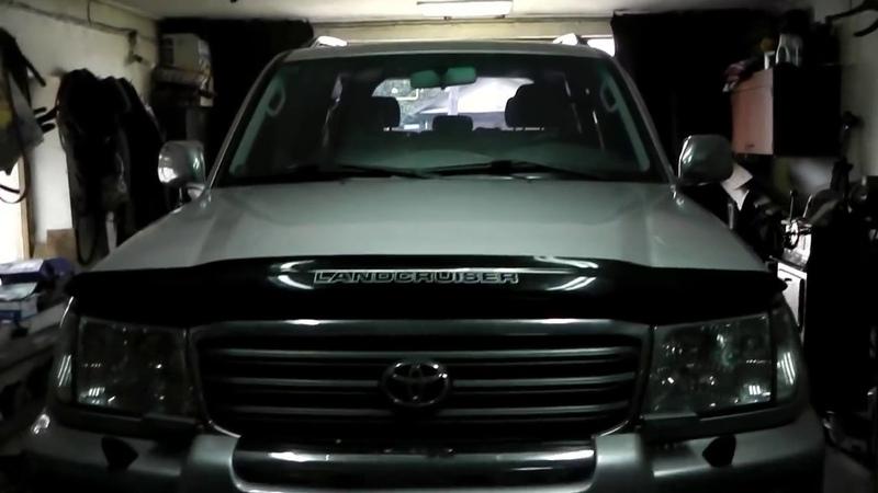 Toyota Land Cruiser 100 замена крестовины регулировка подшипников п-ступицы профилактика форсунок