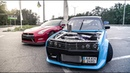 Golf 86 года надрал GT-R, чуть не убились на съемках. бессрочка ikon Nissan Volkswagen Golf Drag Gtr Drift Cars Happy Imagine Bts