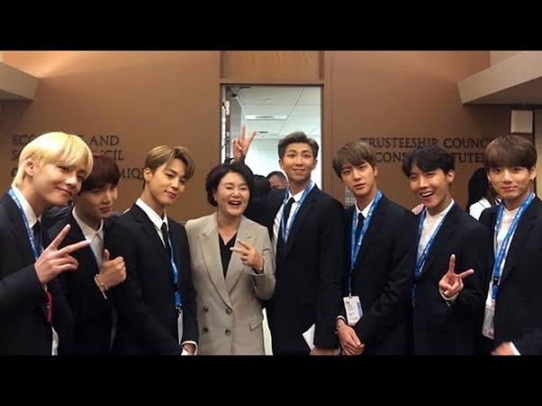 김정숙 여사, 유엔서 BTS 만나 자랑스럽다 / 연합뉴스TV (YonhapnewsTV)