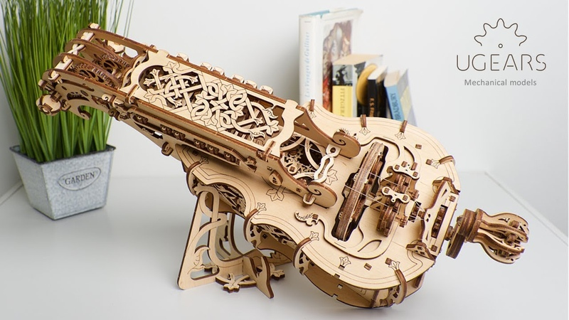Ugears Hurdy Gurdy world's first mechanical musical instrument for self assembly and play