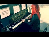 Живое пианино на ул. Блохина.