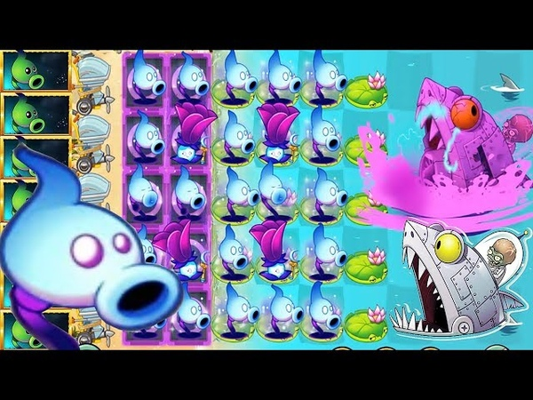 Plants vs Zombies 2 MOD: Shadow Peashooter Pvz2 Vs All Freakin' Zomboss
