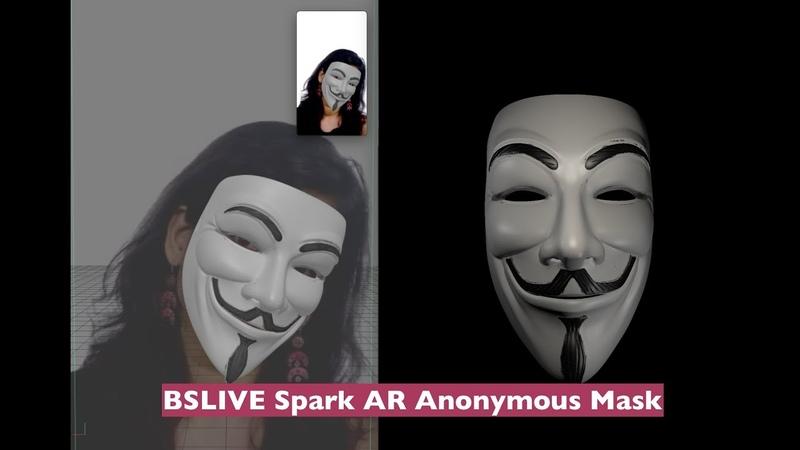 BSLIVE 0011 Spark AR Anonymous Mask
