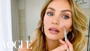 Candice Swanepoel's 10 Minute Guide to Fake Natural Makeup and Faux Freckles Beauty Secrets
