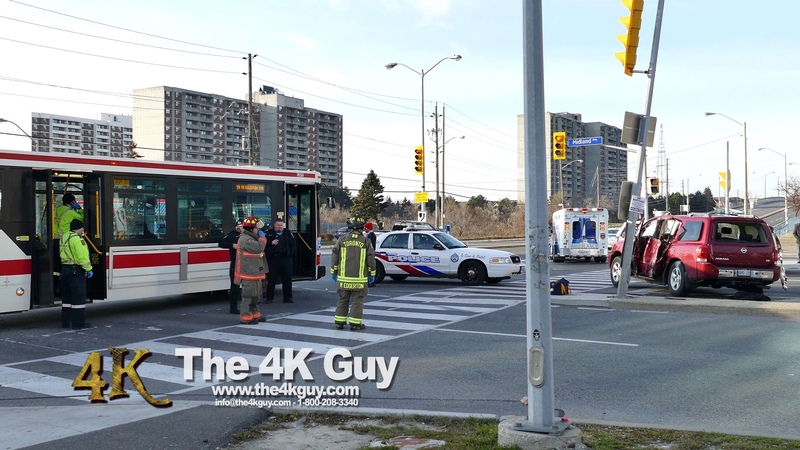 Scarborough: Two ejected in crash with TTC bus 12-20-2015
