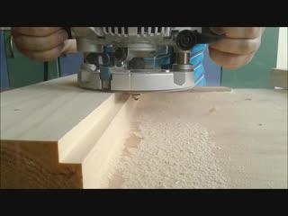 Фрезерование паза и гребня, milling groove and ridge