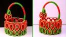DIY Basket Craft Idea How to Make Basket Best Out of Waste Home Decor