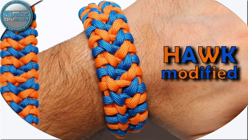 World of Paracord How to make Paracord Bracelet HAWK modified DIY Paracord Tutorial by Cetus