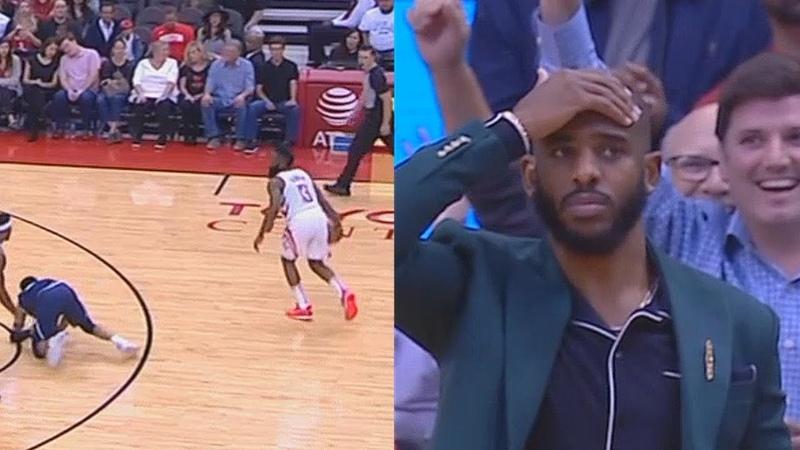 James Harden Breaks Jamal Murray's Ankles Shocking Chris Paul Entire Rockets Crowd