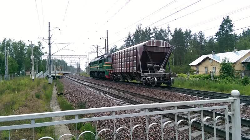 м62-1634 проходит мимо станции Ушково